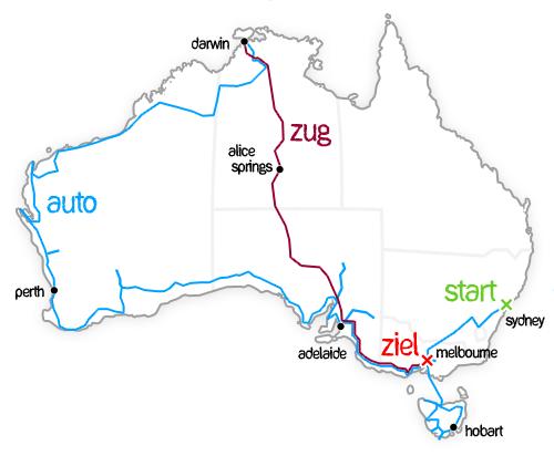 Australien-Route